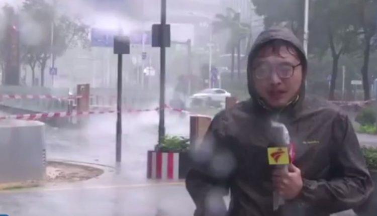 video reportero china tifon se salva