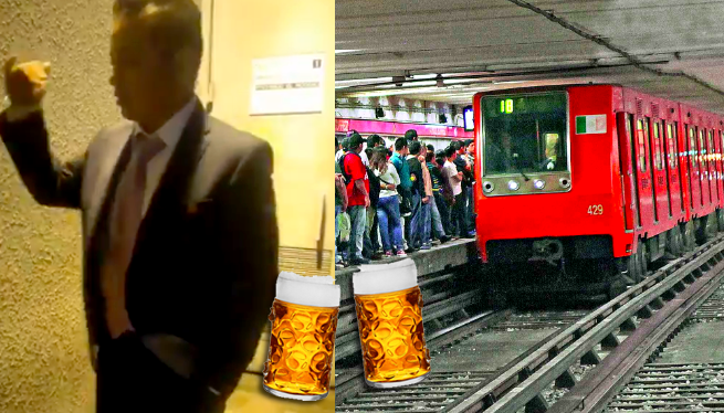 conductor metro ebrio