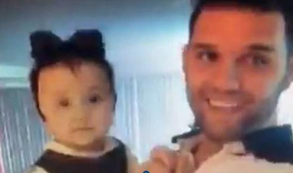 Fabio Melanitto con su hija Antonella