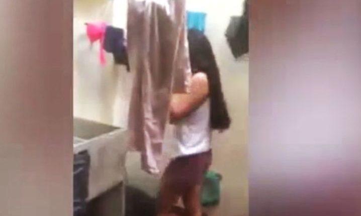 adolescente castigada por su padre