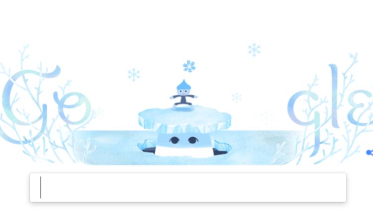 doodle google solsticio invierno