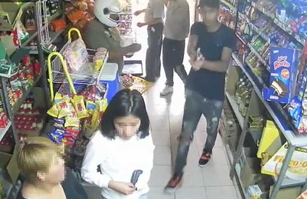 asaltan a mano armada tienda en Tizayuca