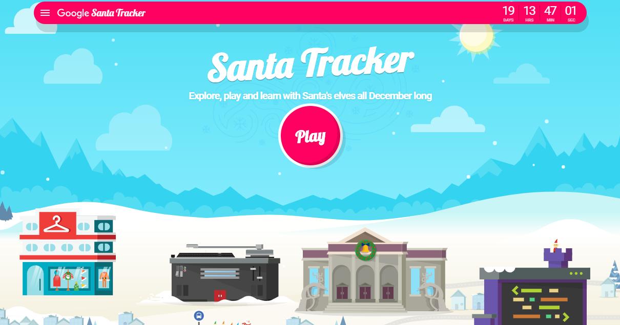 Santa Tracker es la nueva aplicación online de Google donde puedes jugar y  seguir la pista de Santa Claus 2f7b640035
