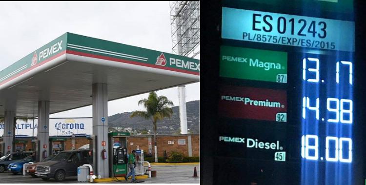 costo de gasolinas en la frontera mexico baja hasta a 12 pesos por litro