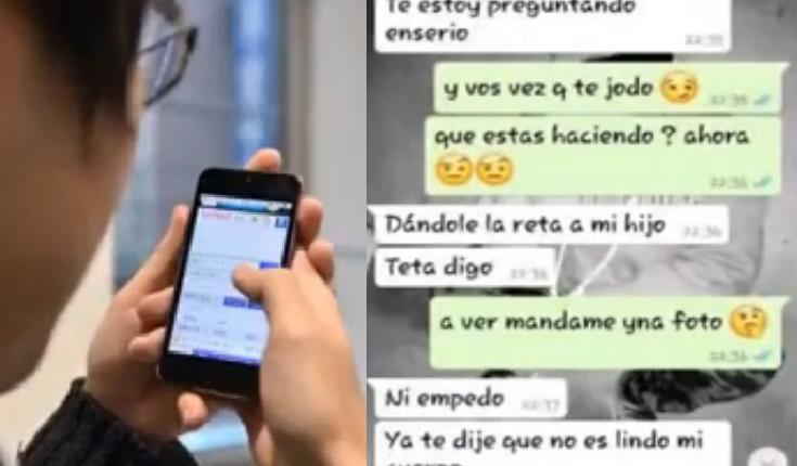 maestra acosa a niño de 13 años hasta que la madre lo descubre conversacion whatsapp video