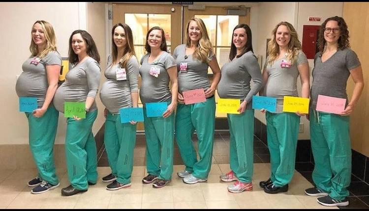 enfermeras embarazadas