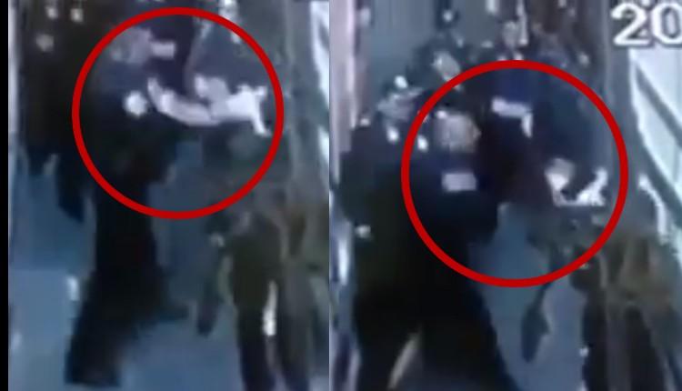 policía agrede a mujer en tepito