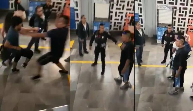 ambulantes agreden a mujer metro general anaya