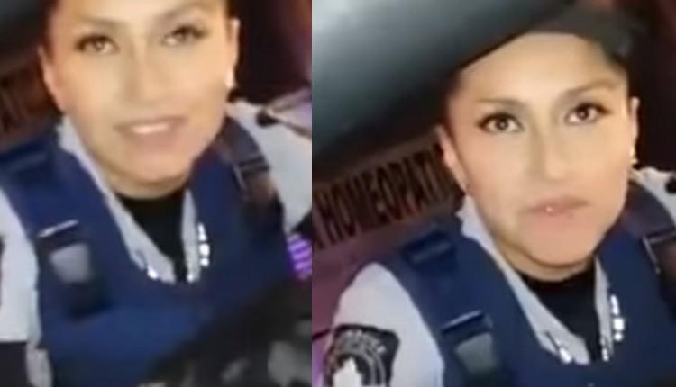 mujer policia video piropo