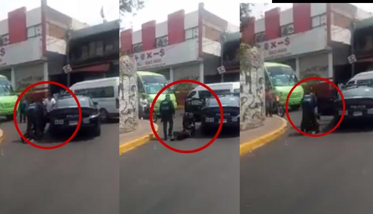 policía agrede a ladrón en cuajimalpa