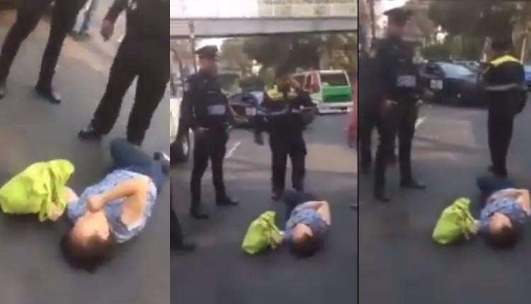 policía arrolla se burla de mujer
