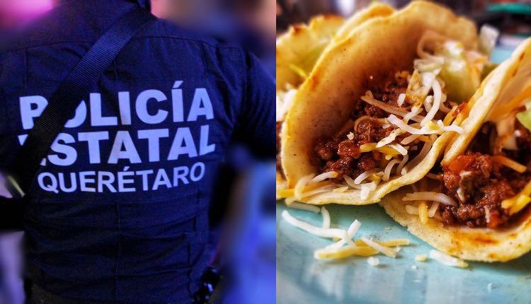 roban a policías armas por comer tacos