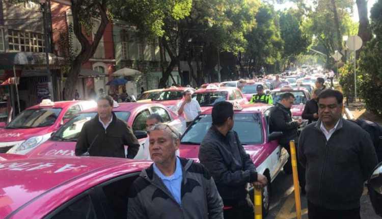 taxistas protesta bloqueos