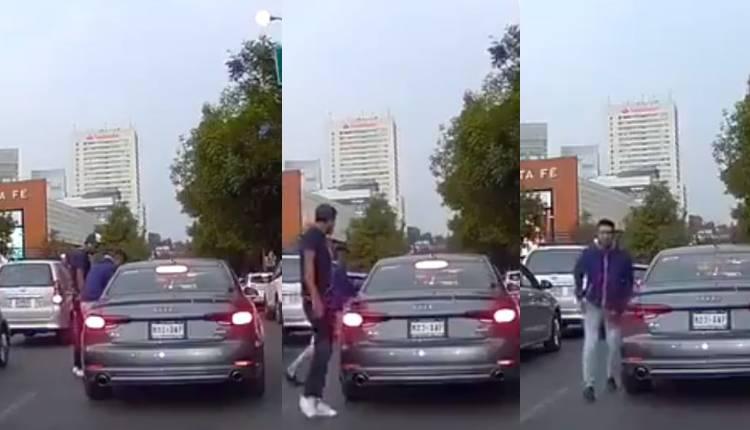 asalto auto en centro comercial santa fe 1