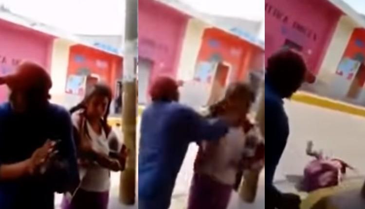 hombre golpea a mujer en tlaxcala