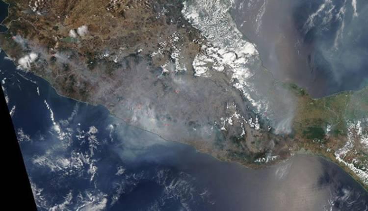 nasa contaminación de méxico desde el espacio