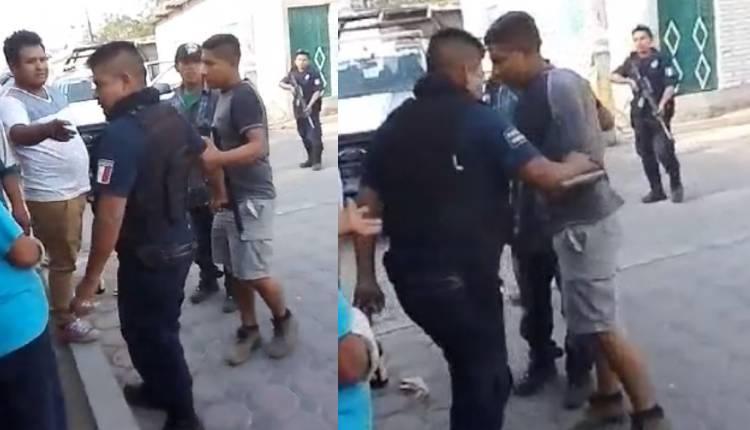 policías ebrios amenazan a familia de puebla