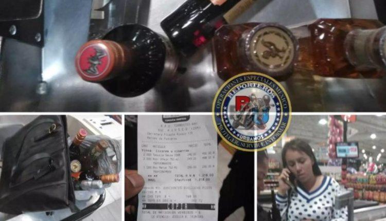 roba botellas de alcohol