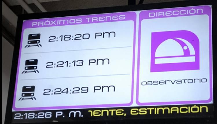 aviso en tiempo real avance de trenes metro cdmx