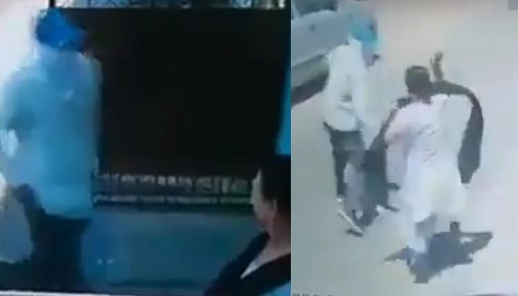 mujer escapa de ladrón a manotazos