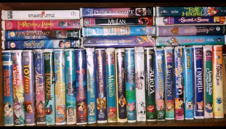 peliculas VHS de Disney
