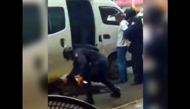 policías detienen ladrone combi naucalpan