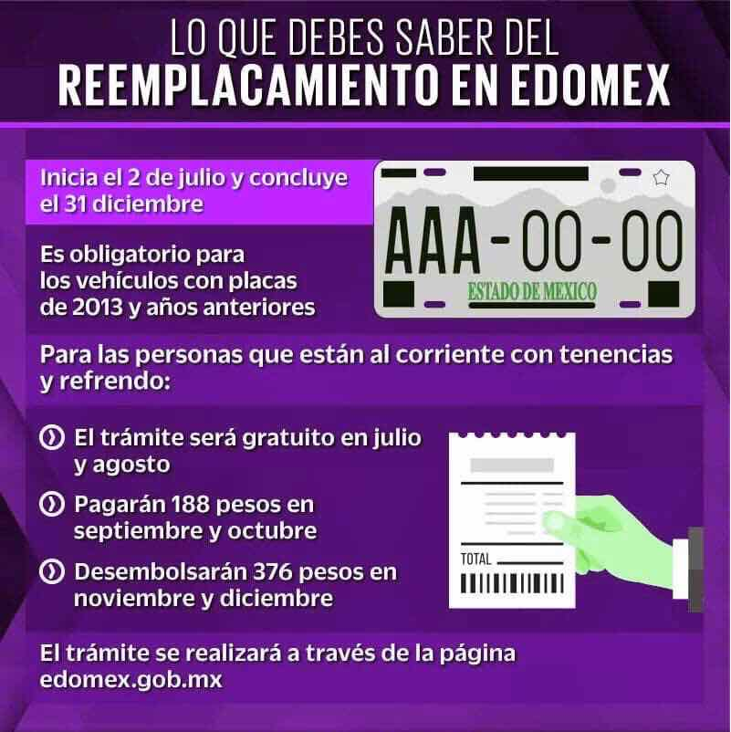 reemplacamiento edomex
