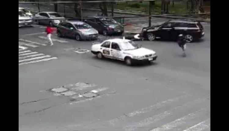 video robo asaltantes polanco moto