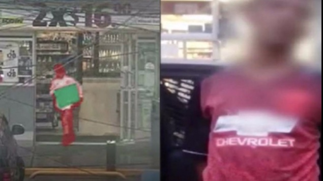 ladrón asalta oxxo se lleva caja registradora
