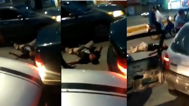 conducor golpeado carretera azomoc