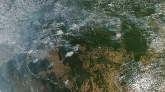 incendio en el amazonas nasa