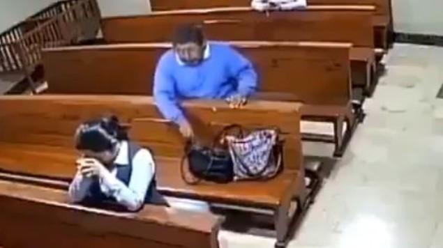 ladron iglesia