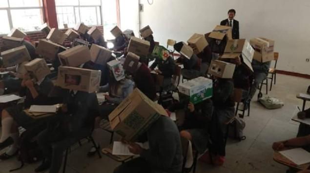 maestro cajas alumnos