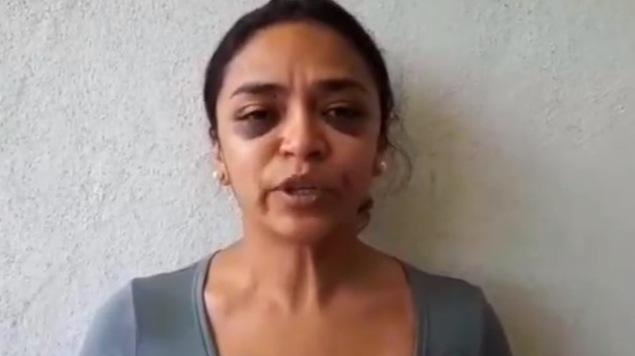 periodista golpeada morelia michoacan