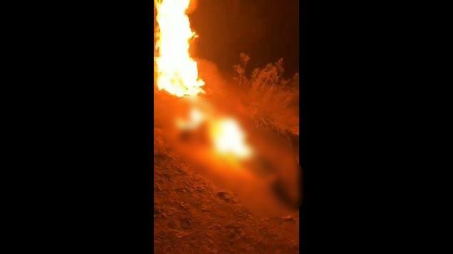 sicarios queman vivo a hombre