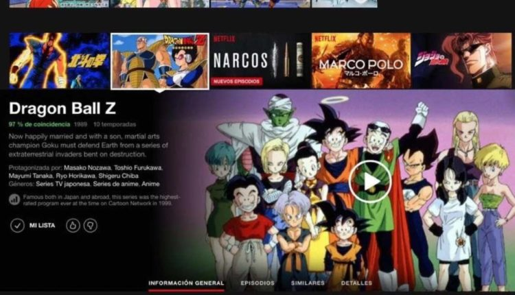 dragon ball z netflix