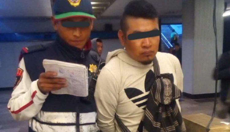hombre detenido metro