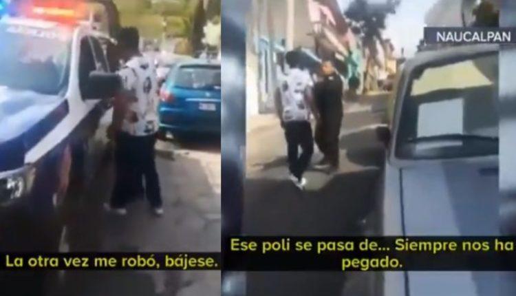 joven acusa de robo a policia naucalpan