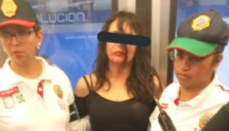 mujer ebria metro
