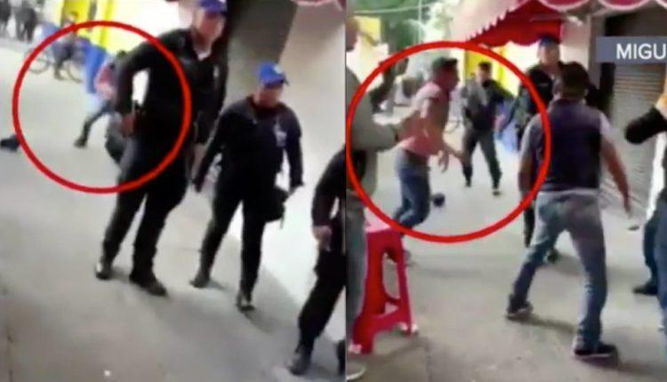 policias golpeados borrachos