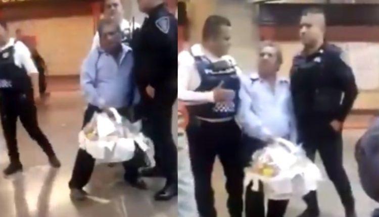 policias vendedor metro