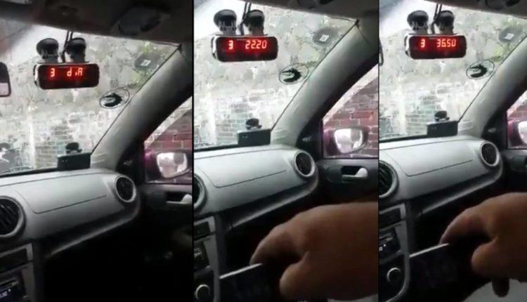 taxista altera taximetro