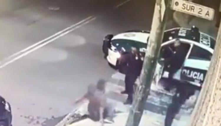 policías golpean hombre iztacalco