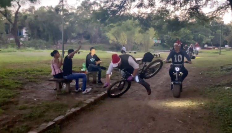 alcalde caida bicicleta