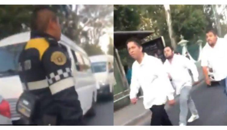 choferes vs policia