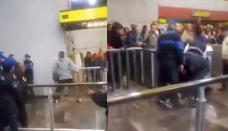 comerciantes enfrentamiento policias