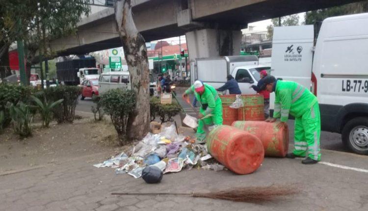 peregrinos basura cdmx